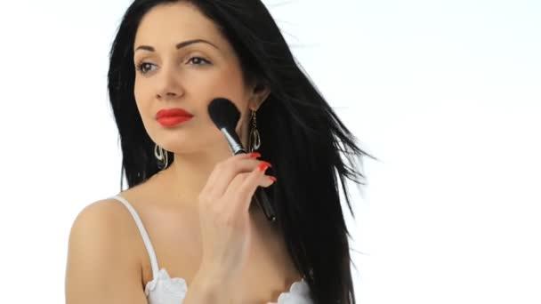 Beautiful girl with long hair make-up