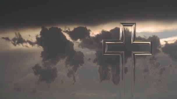 A háttérben a felhők keresztény határokon