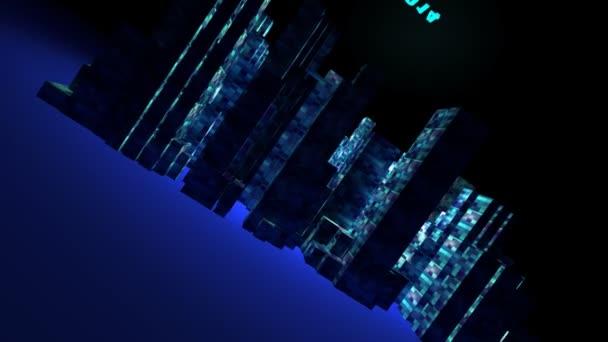 3D animace město nového roku