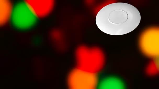 Nový rok, Vánoce, zimní pozadí a hrnek káva