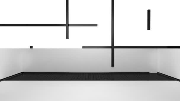 budování moderní obývací pokoj ložnice
