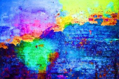 Abstract grafitti wall