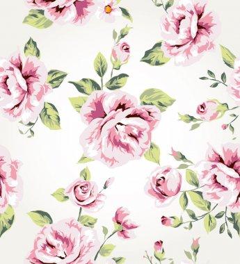 Seamless vintage flower pattern vector background
