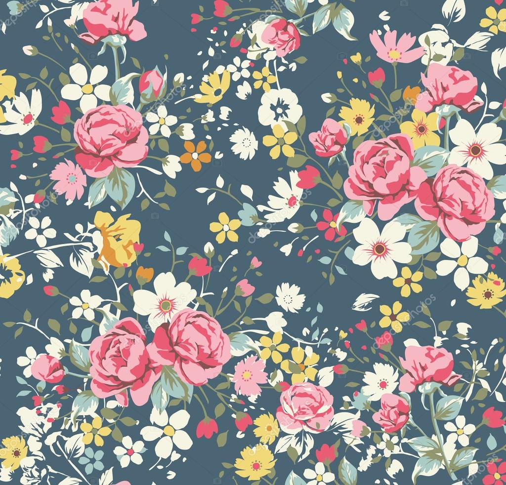 Background Roses Pattern Wallpaper Wallpaper Vintage Rose