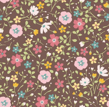 seamless tiny floral seamless pattern