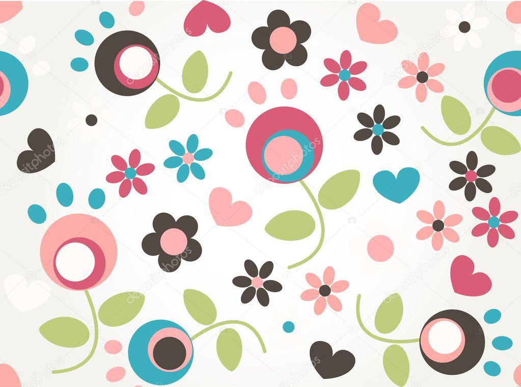 Cute tiny flower seamless pattern background