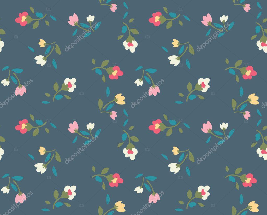 Spring Cute Vintage Rose Pattern Background Stock Vector