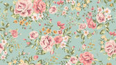 Fotografie Classic wallpaper vintage flower pattern background