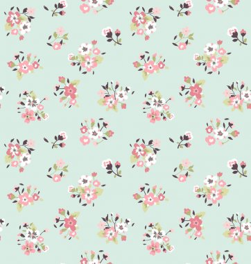 Seamless tiny cute flower pattern background