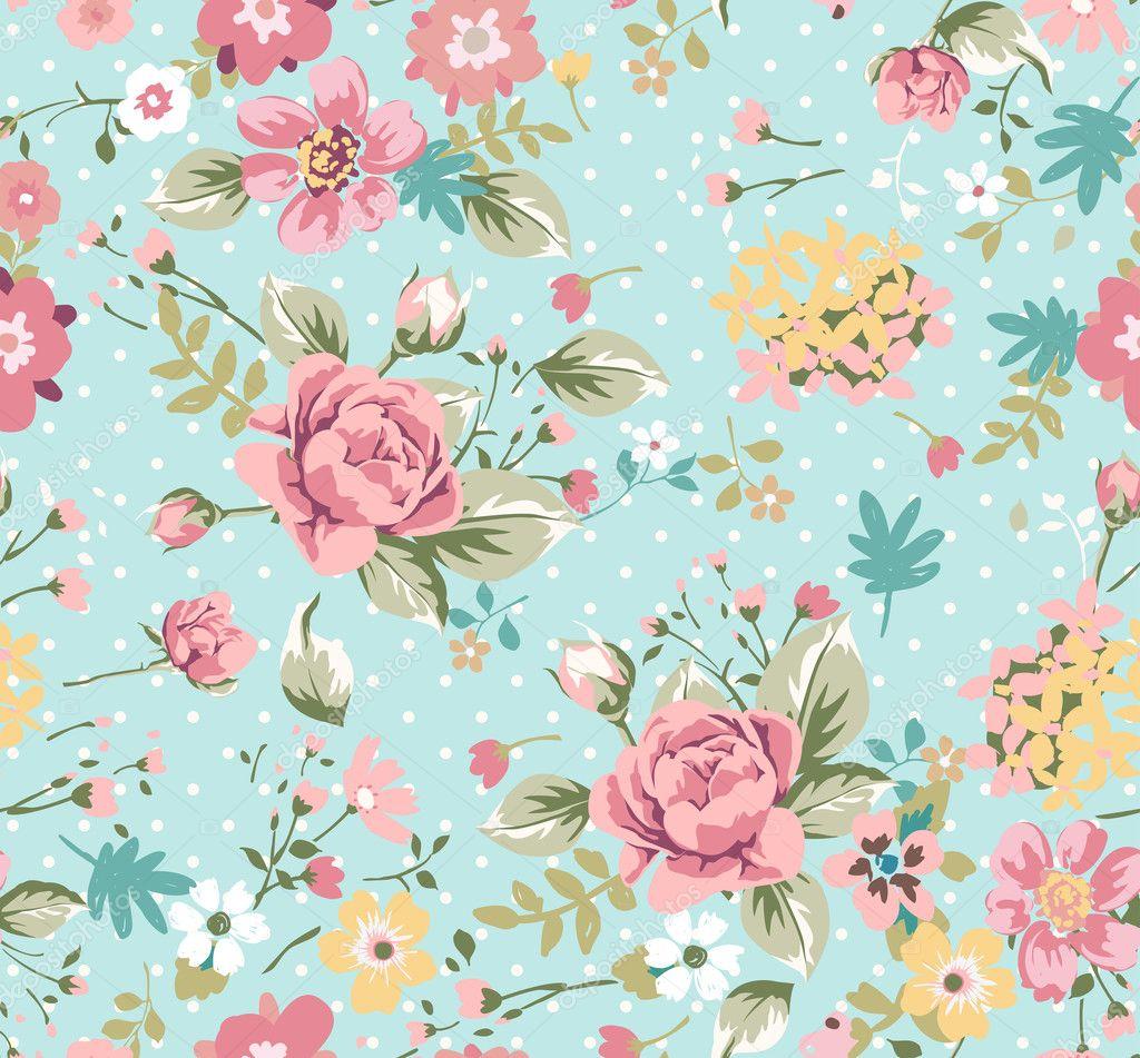 Seamless summer floral pattern