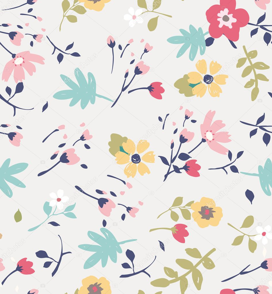 Seamless summer tiny flower pattern background