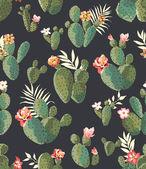 bezešvé roztomilé kaktus tisk pozadí