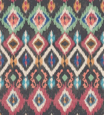 Seamless vintage ethnic vector print pattern