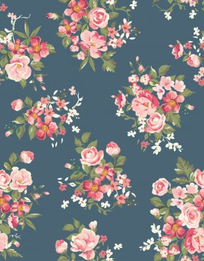 Floral ,flower seamless vector pattern background