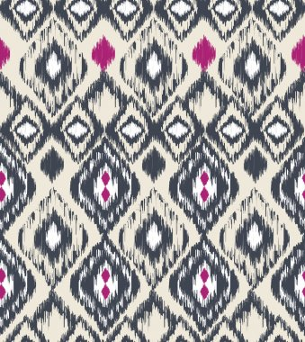 Ethnic tribal print seamless vector pattern background