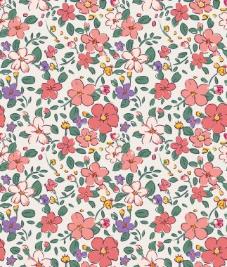 Seamless vintage tiny flower pattern background