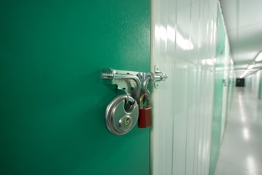 Double locks on a self storage unit