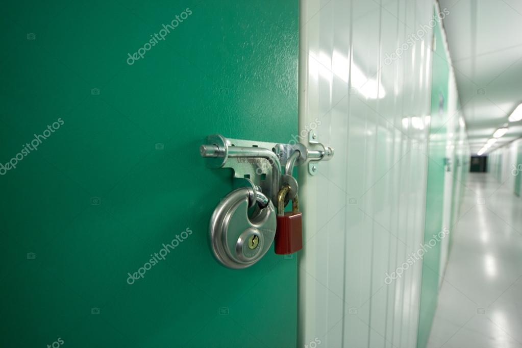 Double locks on a self storage unit