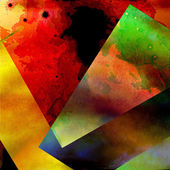 Photo Quilted Color Paper Pieces - Broken Glass - Colorful Abstract Design