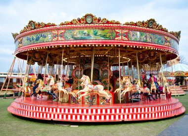 Colorful carousel in Reading Berkshire England