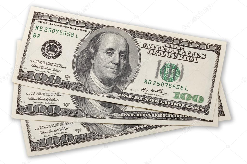 three hundred dollars  Three hundred dollars — Stock Photo © panama7 #23171334