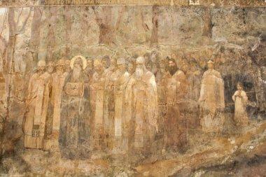 Fresco of Kiev Pechersk Lavra, Ukraine.
