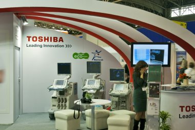 Toshiba booths at medical exhibition