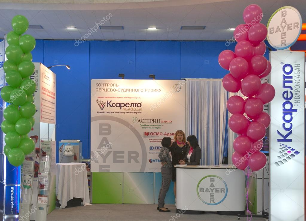 Bayer pharmaceutical company booth