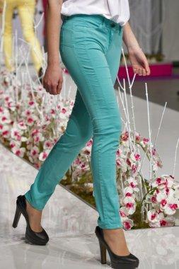 Fashion model jeans show