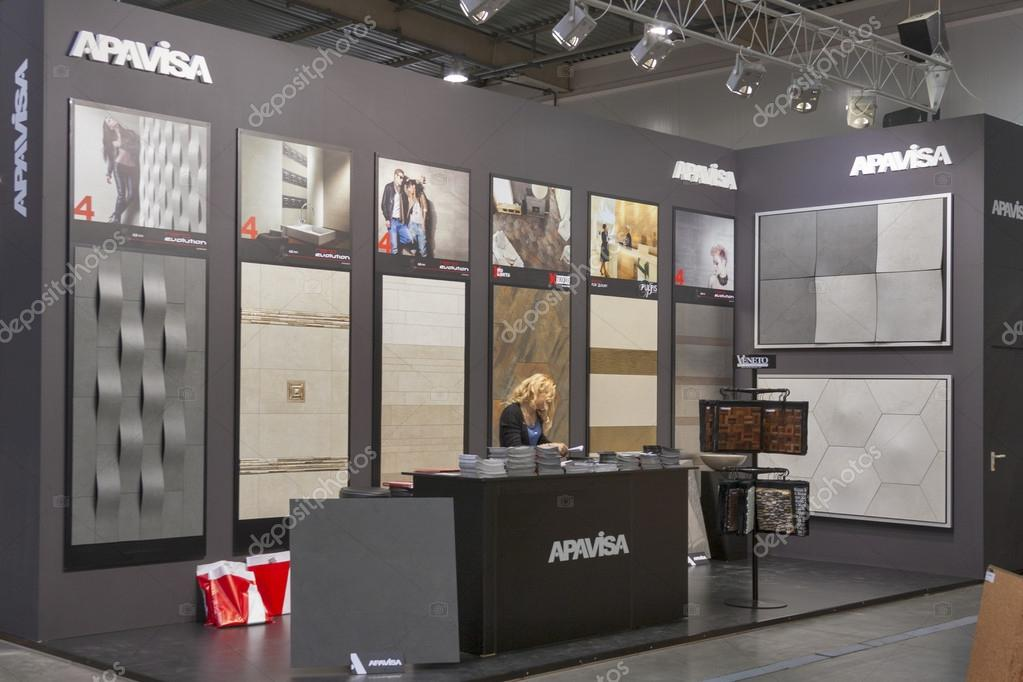 Exhibition Booth In Spanish : Apavisa spanish high technical porcelain company booth u2013 stock