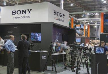 Sony TV equipment booth