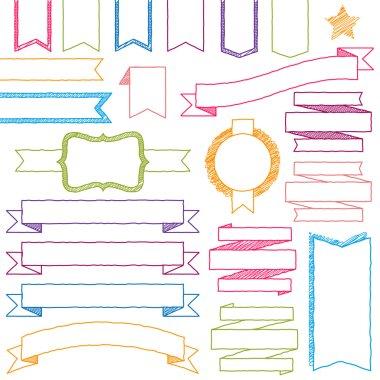 Vector Set of Hand Drawn Doodle Web Design Elements