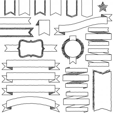 Vector Set of Hand Drawn Doodle Web Design Elements