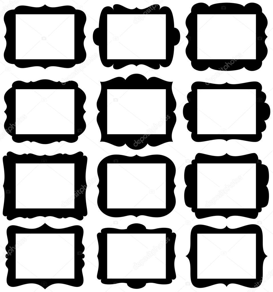 Vector conjunto de siluetas de marco con aberturas de proporción de ...