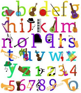 Vector Music Alphabet Set
