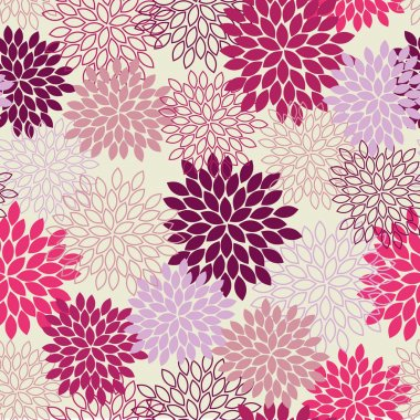 Seamless Mum Flower Background