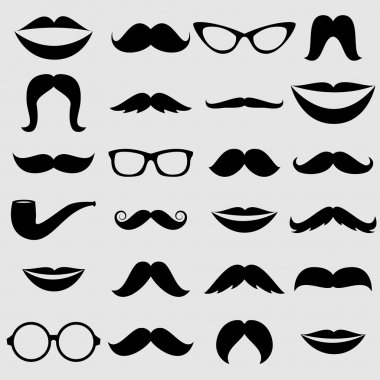 Mustaches and other Accessories Vector Set