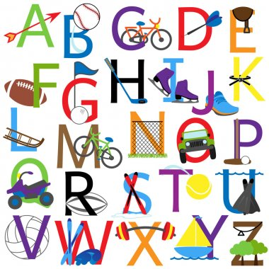 Vector Sports Alphabet