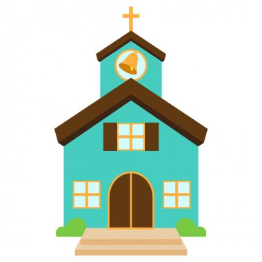 Vector Illustration of a Cute Church or Chapel stock vector