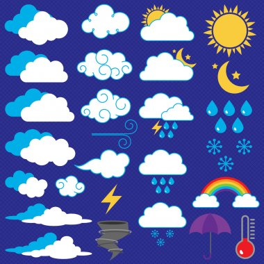 Vector Collection of Weather Icons and Symbols