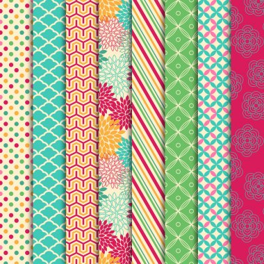 Vector Collection of Bright and Colorful Backgrounds or Digital Papers