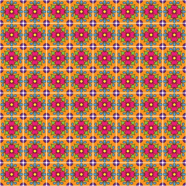 Seamless Vector Talavera Style Pattern and Background