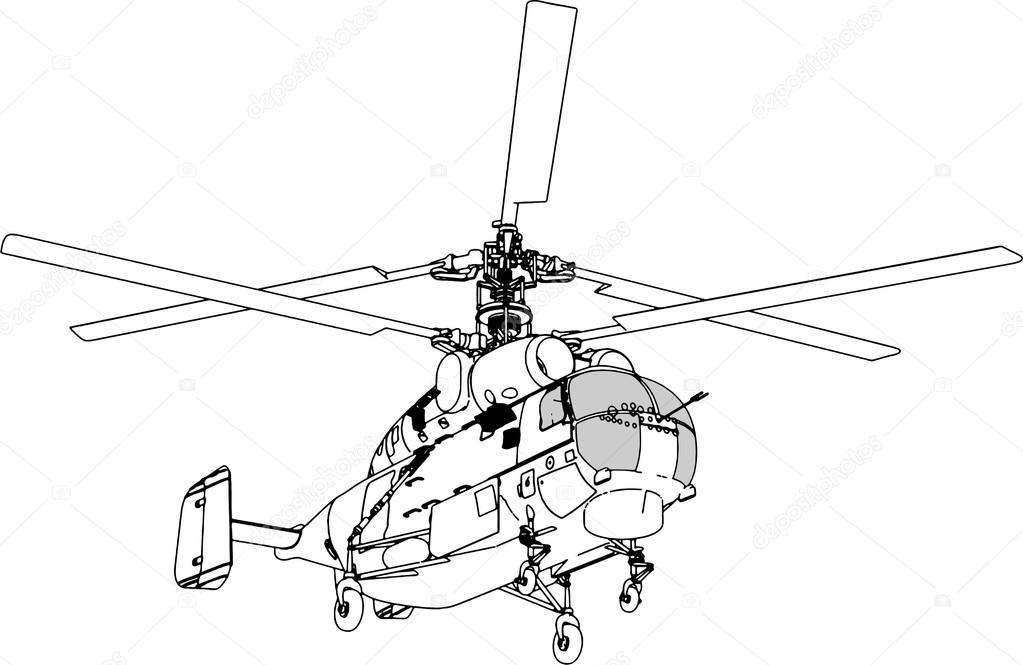 vector de perspectiva de helicóptero — Vector de stock © NesaCera ...