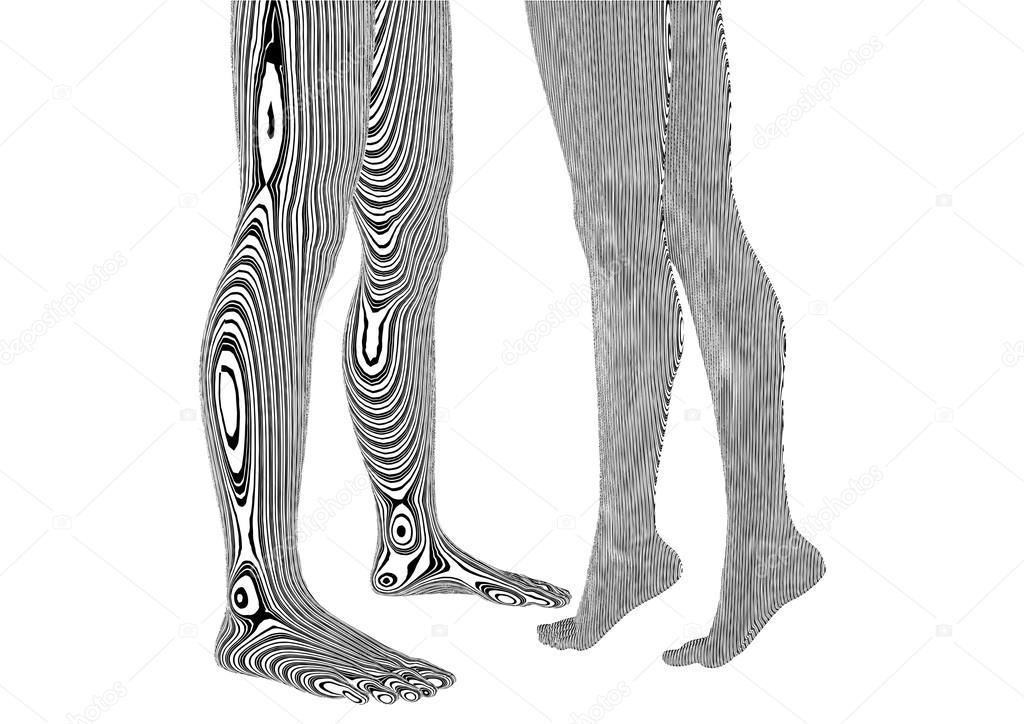 Mann Und Frau Tattoo Beine Vektor Stockvektor Nesacera 23720597