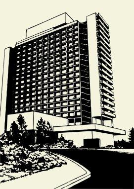Hotel Building Vector