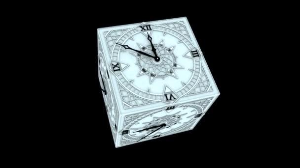 gotický odpočítávací hodiny od 10 do 0 animace 01