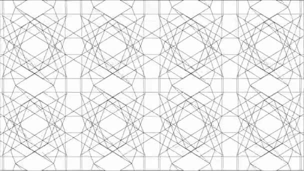 Spider Net táncoló vonalak Kaleidoszkóp animáció