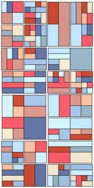 Vintage Hipster Geometric Pattern In Tetris Style Vector