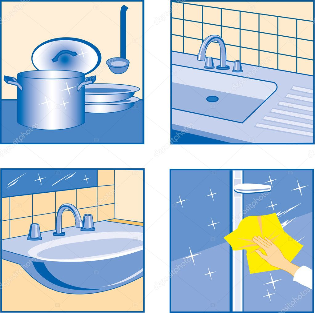 House cleaning icons stock vector mamalu 23200900 for House cleaning stock photos