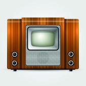 régi tv, vintage vektoros illusztráció.